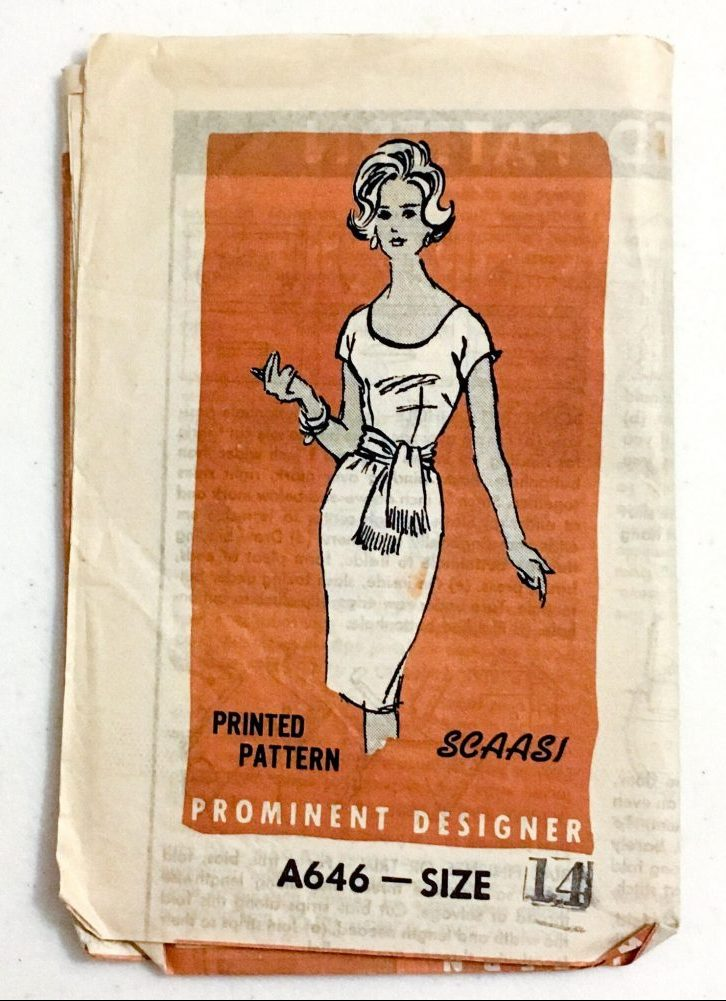 unused 1960s Arnold Scaasi dress pattern A646