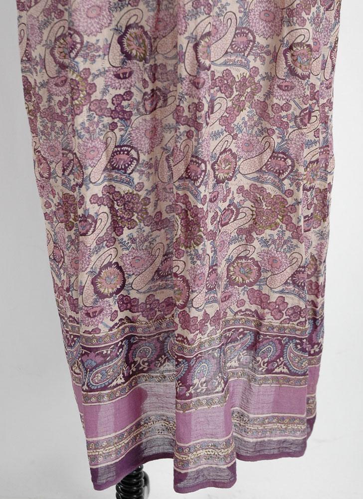 1970s purple cotton gauze bib Indian dress
