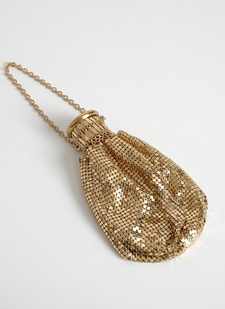1920s Whiting & Davis gold mesh purse