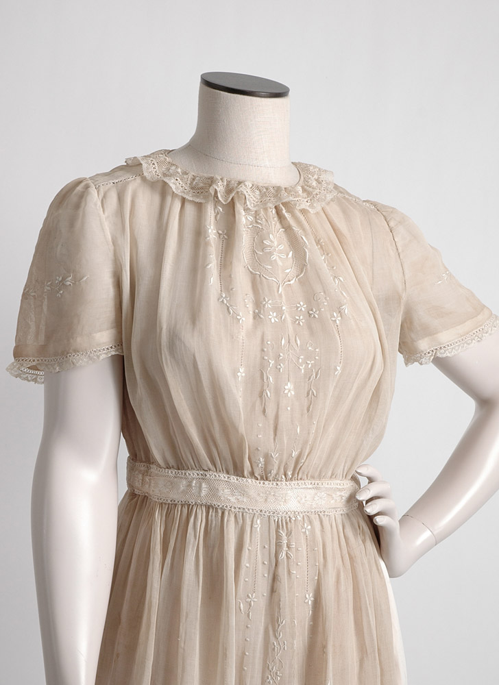 1910s dress turned 1930s 40s dress (as-is/costume)