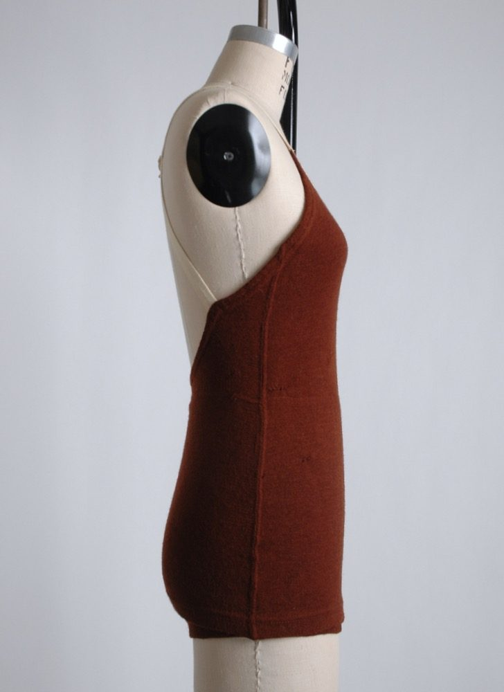 COMING SOON! 1930s strappy maroon wool bathing suit
