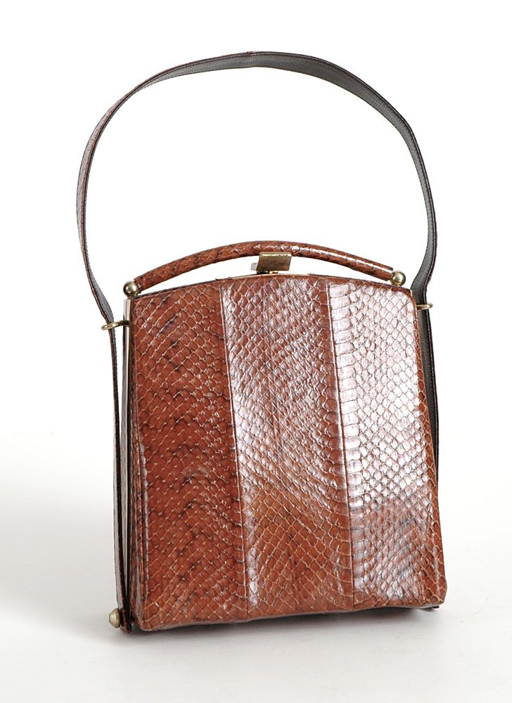 new-old 1940s 50s reptile skin box purse