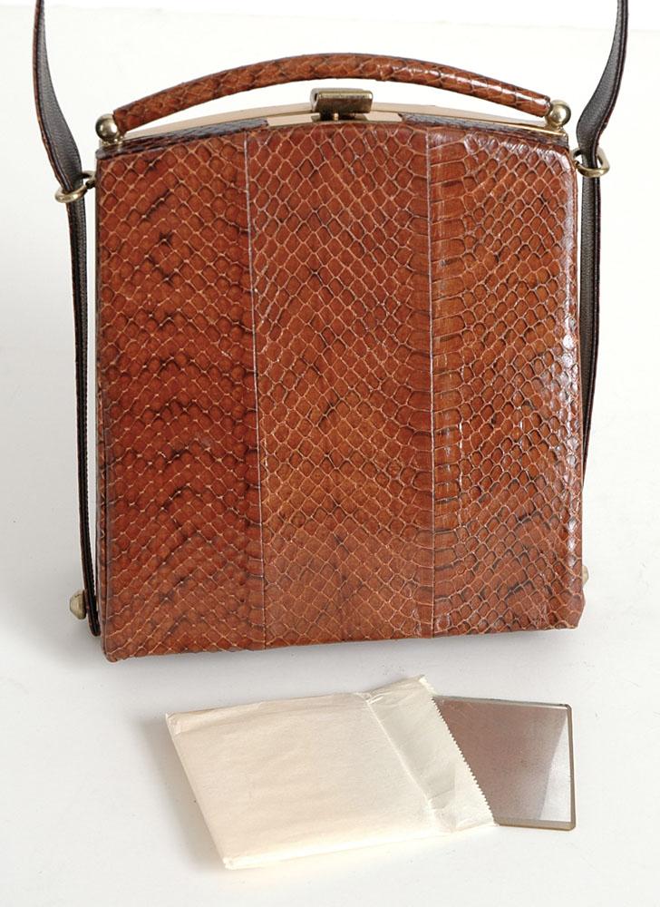 new-old 1940s 50s reptile skin box purse