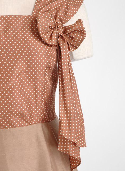 1940s brown silk polka dot suit dress + jacket