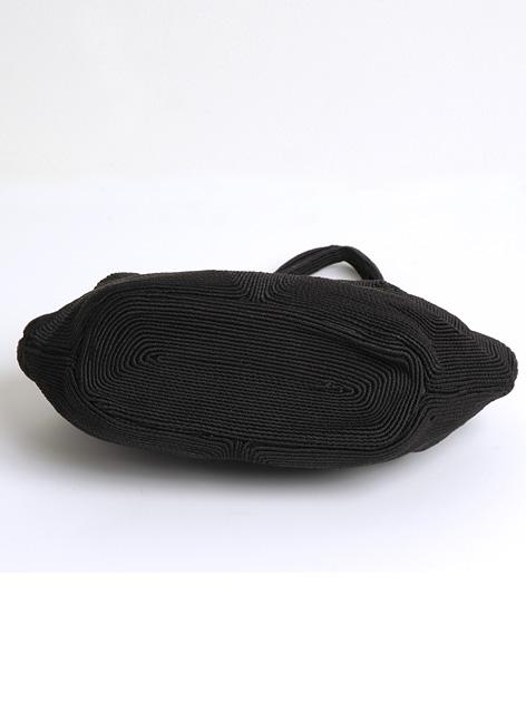 1940s Weeda black corde purse