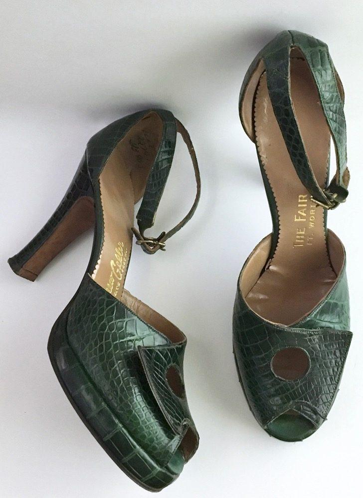 1940s Andrew Geller green reptile platforms