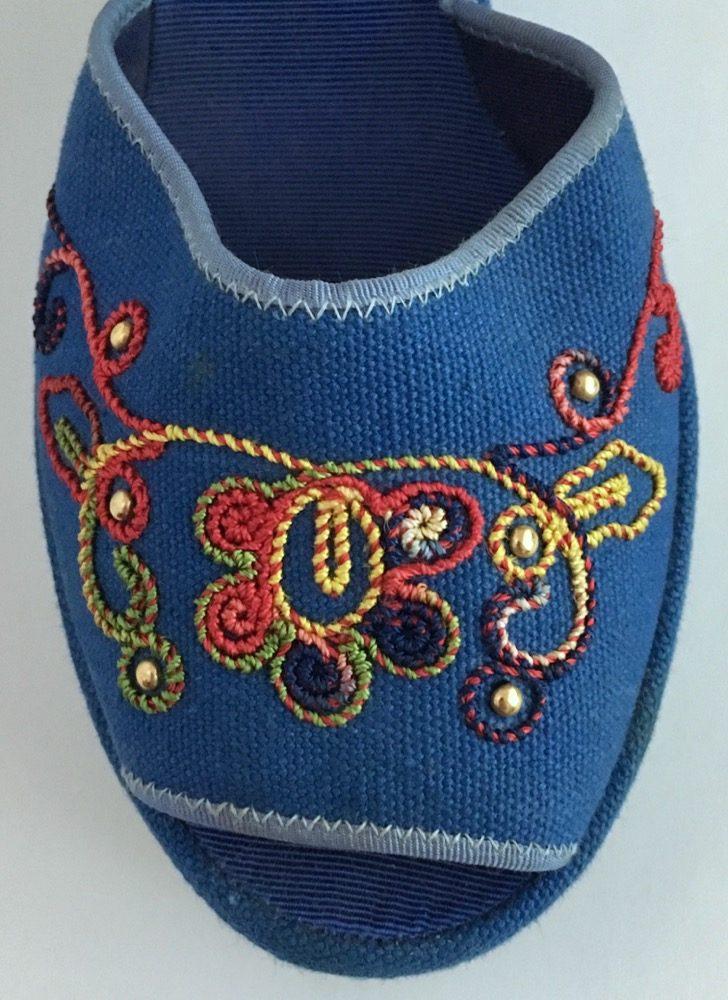 RARE 1940s blue Ryder sandal platforms
