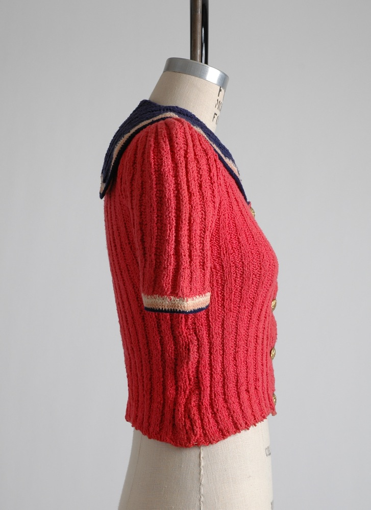 adorable rare 1940s pink sailor sweater