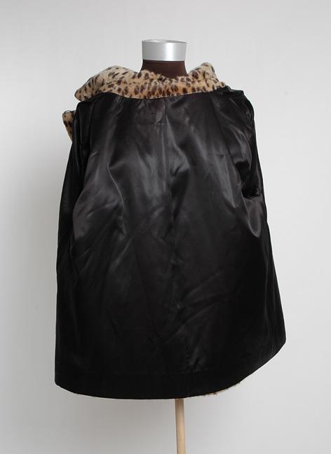 1960's Leopard Print Faux Fur Swing Coat