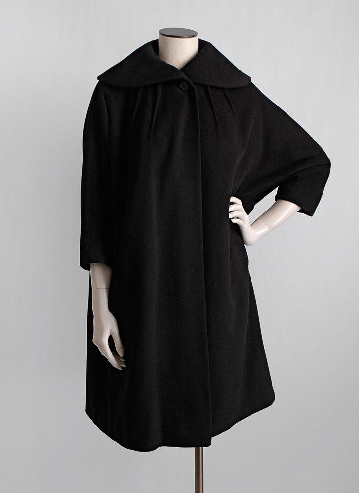 1950s black cashmere coat Irvana