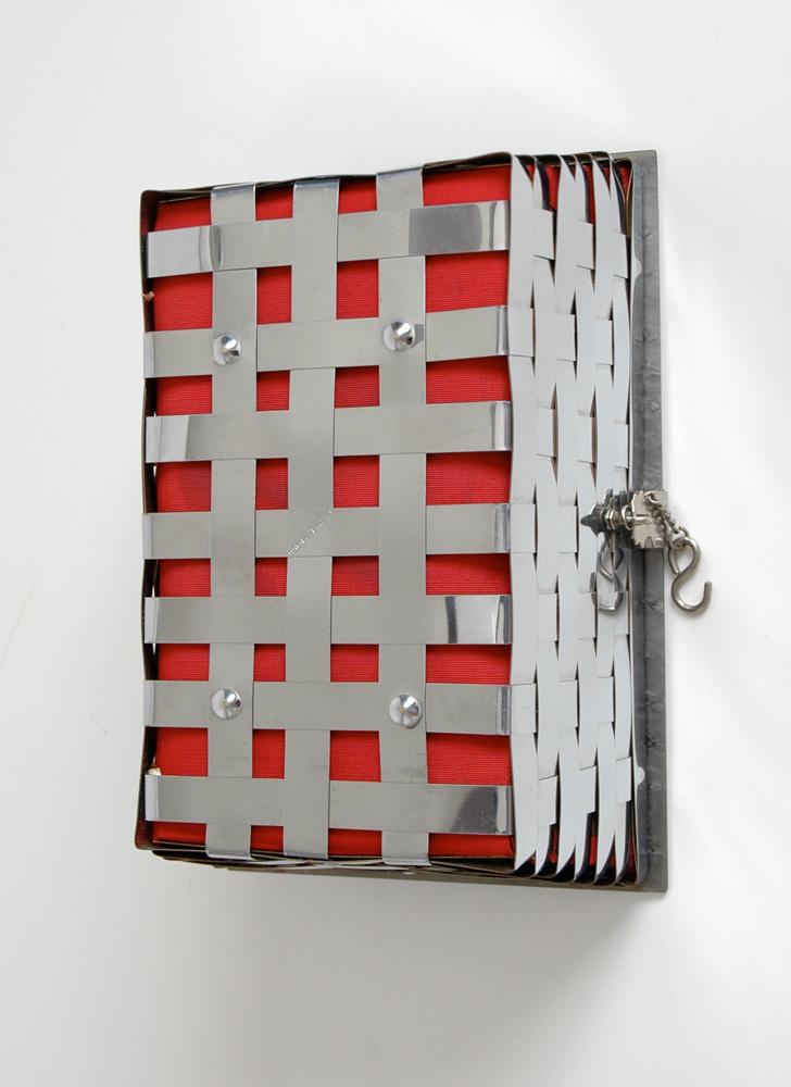 1950s Dorset Rex metal basket weave + lucite purse