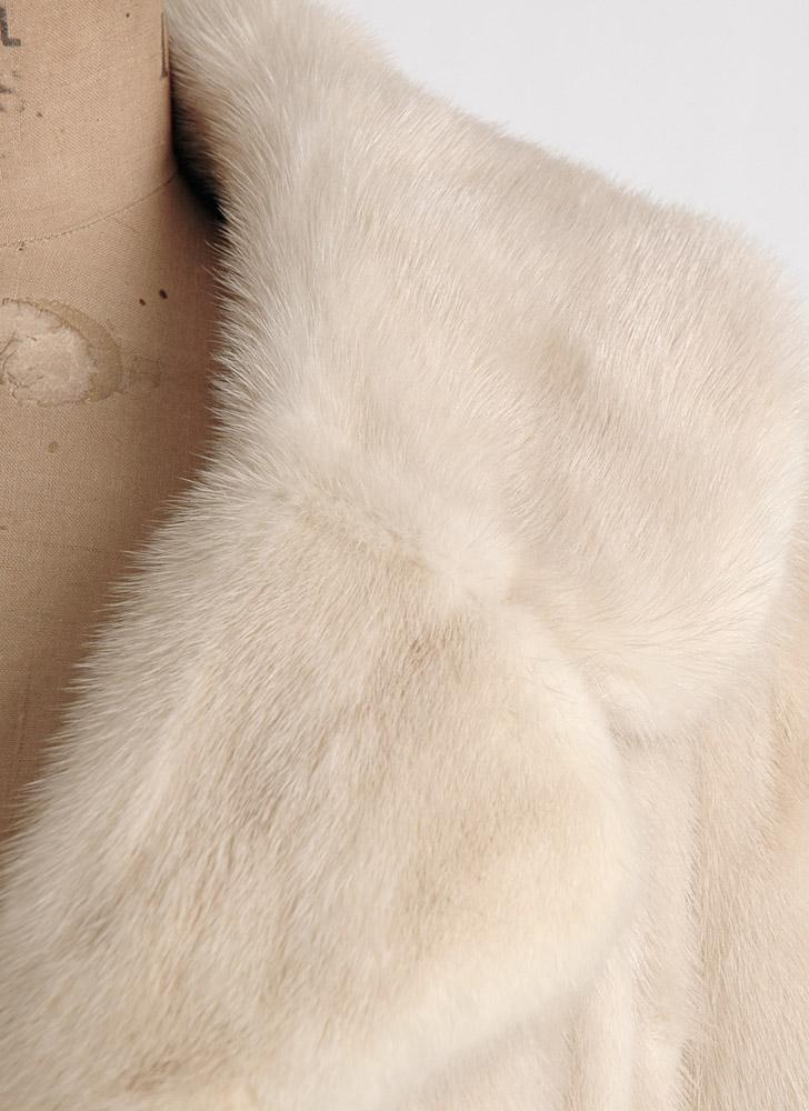 1950s 60s blonde mink cropped jacket