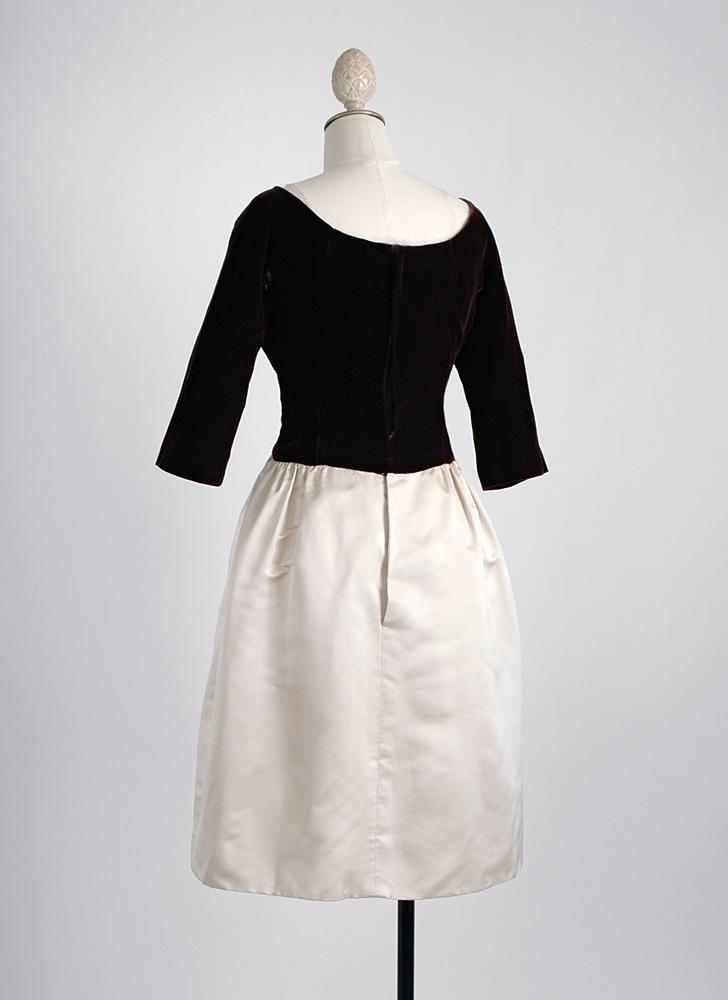 1950s Mollie Parnis silk velvet dress (fair condition)