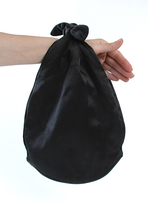1950's Marshall Field's Black Satin Purse, Made in France
