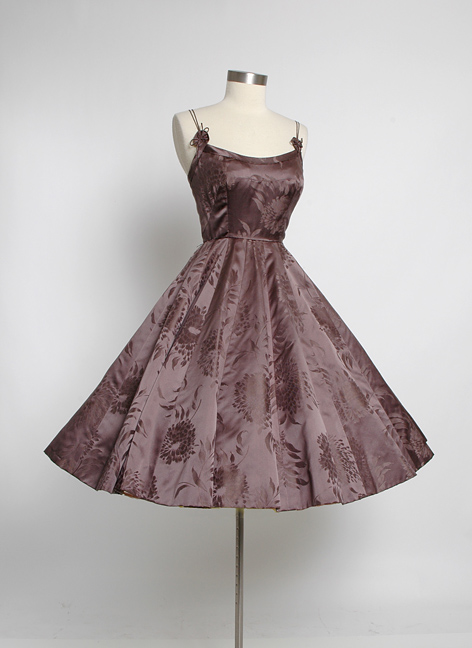 1950s SOPHIE ORIGINAL silk satin damask dress
