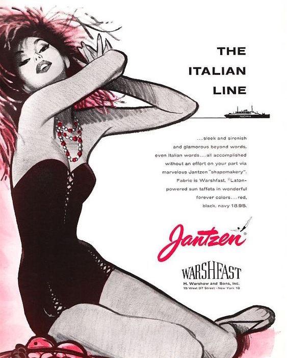 1955 Jantzen Italian Line cutout swimsuit RARE