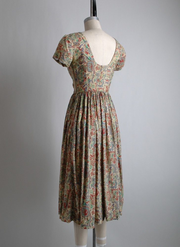 1950s Carolyn Schnurer silk dress (fair condition)