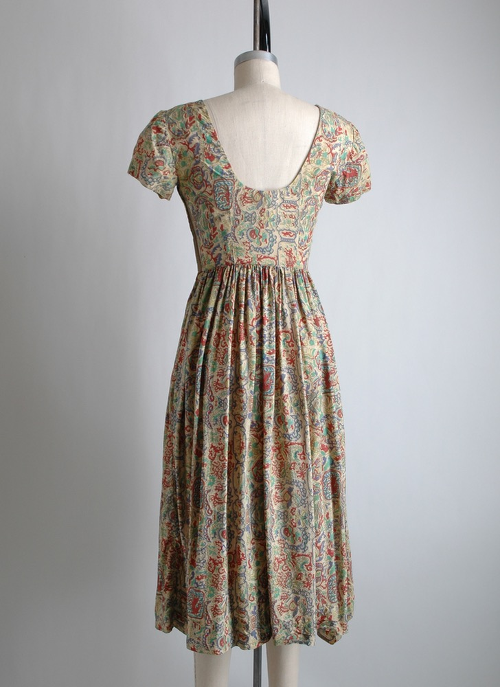 1950s Carolyn Schnurer silk dress [fair condition]