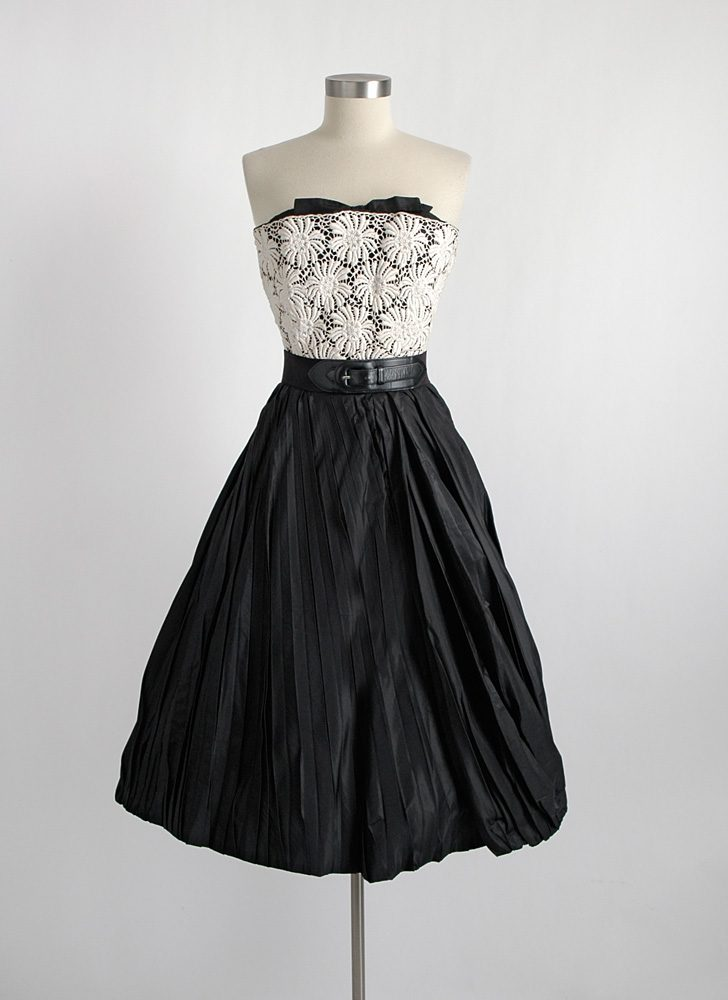 1950s couture Hattie Carnegie Custom Made cocktail dress