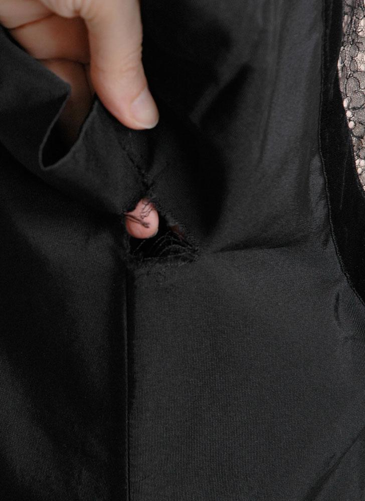 1950s Bullock's silk faille dress (repair project)