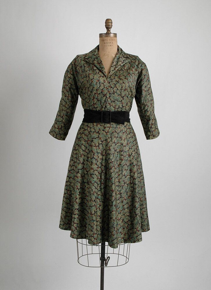 1950s Claire McCardell printed cotton dress (issue)