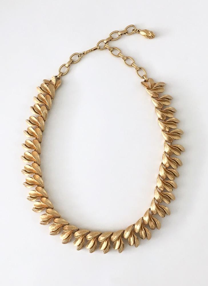 1950s Francois goldtone necklace