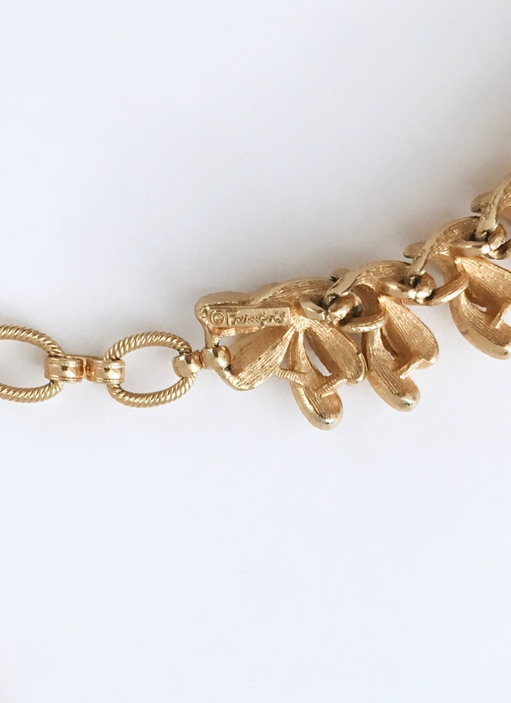 1950s Francois goldtone necklace