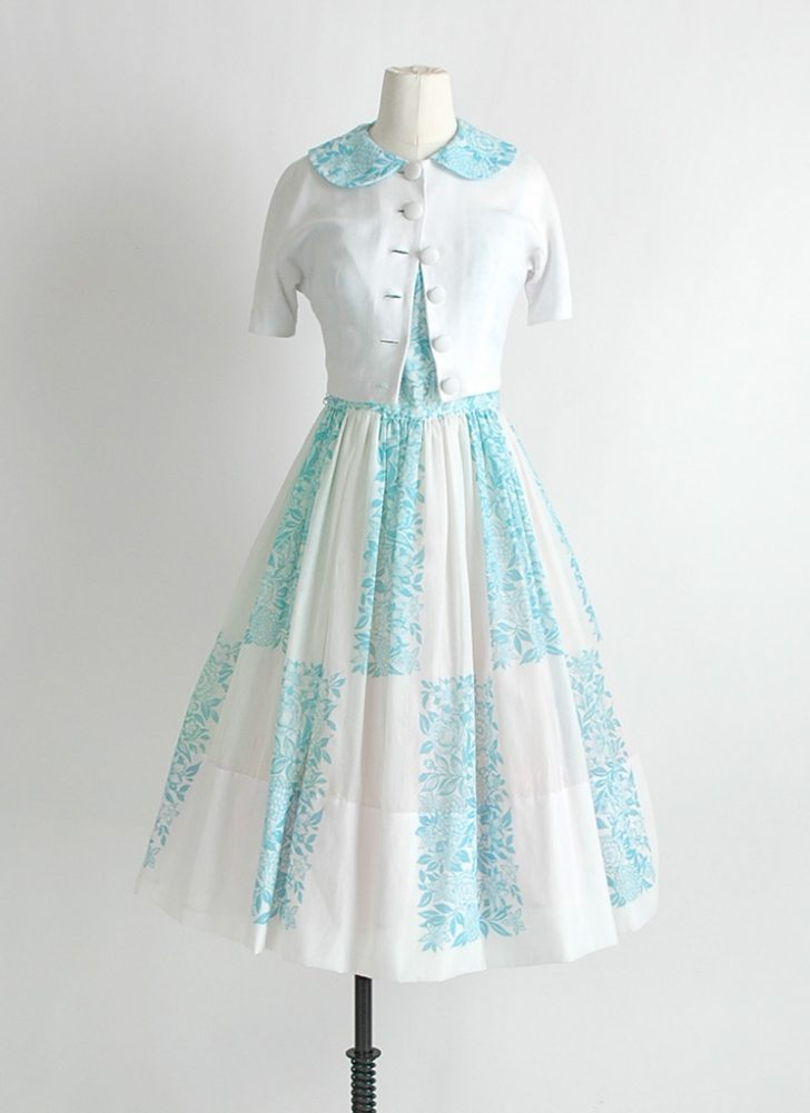 1950s cotton dress + bolero