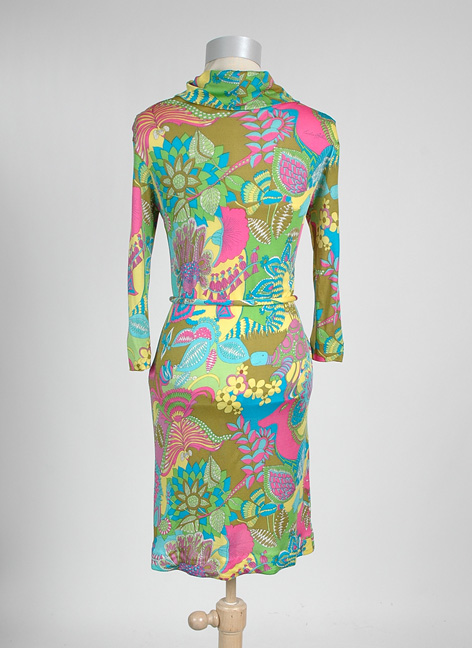 1960s EMILIA BELLINI Italian silk jersey dress