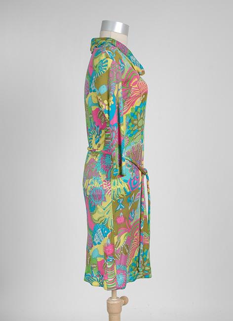 1960s EMILIA BELLINI Italian silk jersey dress