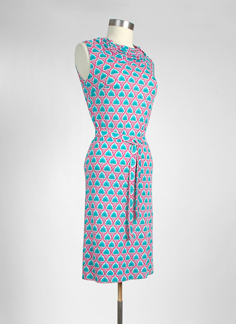 1960s Bonwit Teller Italian silk jersey dress