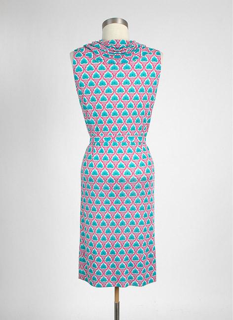 1960s Bonwit Teller Italian silk jersey dress