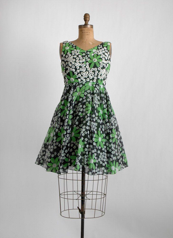 1960s Modern Couture rhinestone + sequin dress
