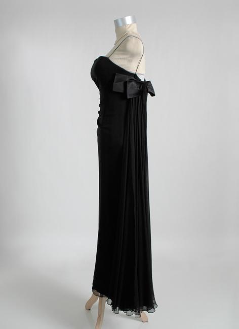 1950s 1960s HELENA BARBIERI draped silk chiffon evening gown