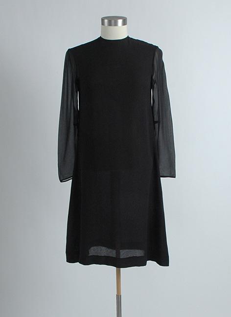 1960s RUDI GERNREICH black silk chiffon dress
