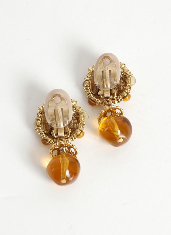 vintage Oscar de la Renta clip earrings