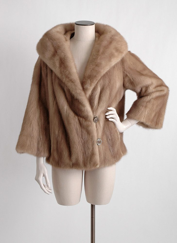 1960s autumn haze honey mink coat