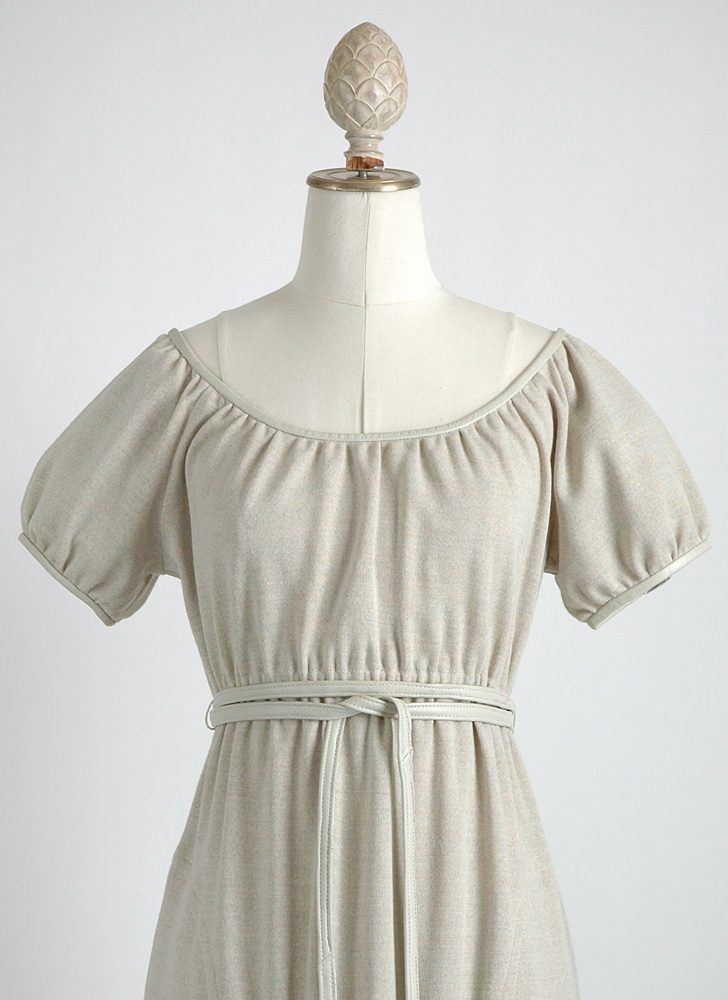 1960s Bonnie Cashin wool + leather dress