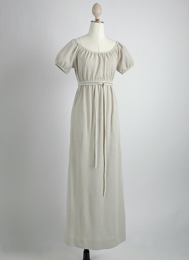 1960s Bonnie Cashin wool + leather dress