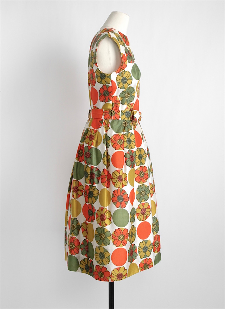 early 1960s Lord + Taylor Jeunesse silk dress