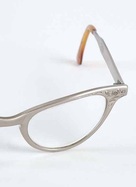 1950s metal Art-Craft cat-eye glasses