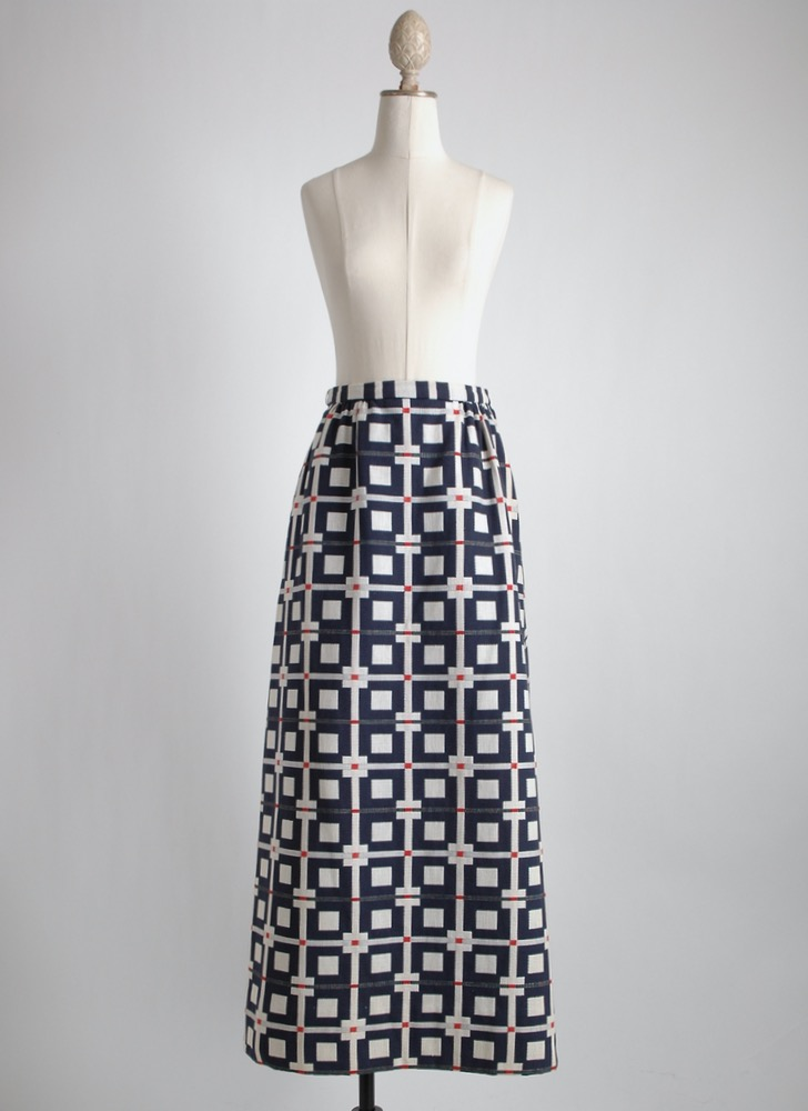 1960s 70s Nelly de Grab floor length skirt