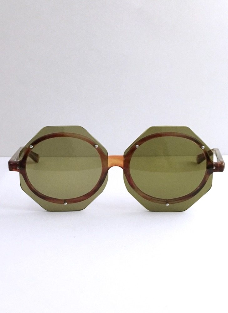 Unusual 1960s 70s octagon sunglasses
