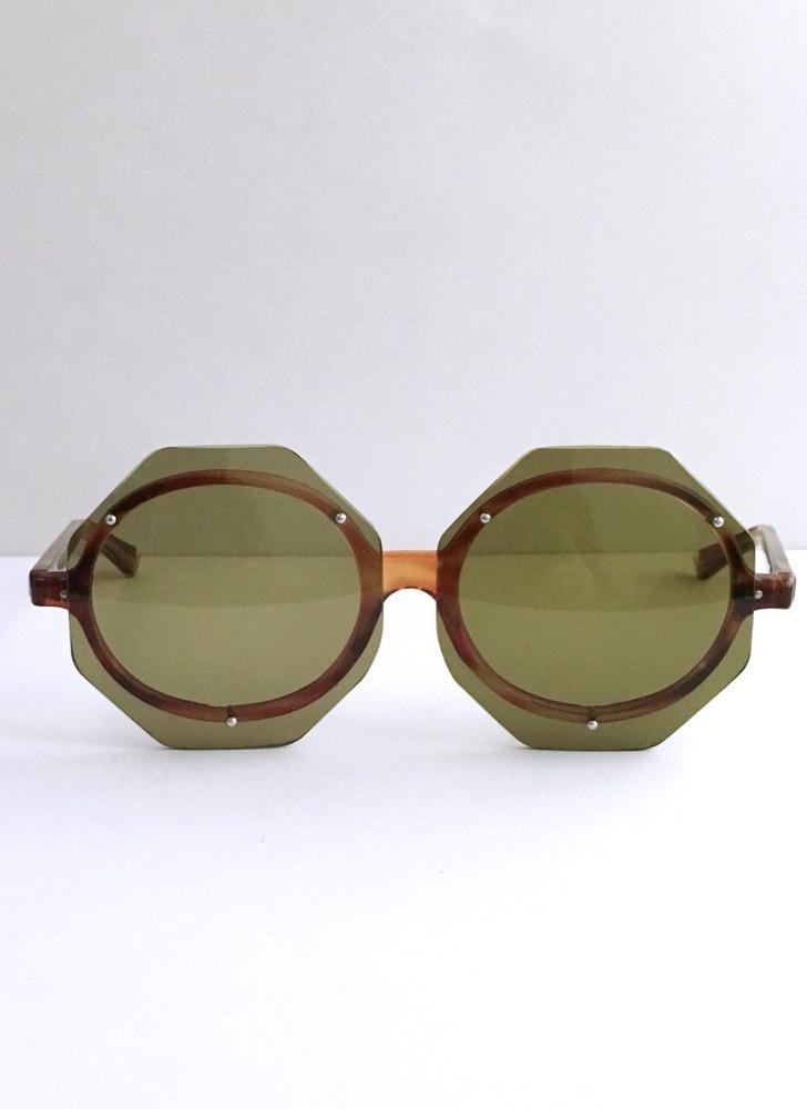 Unusual 1960s 70s octagon sunglasses