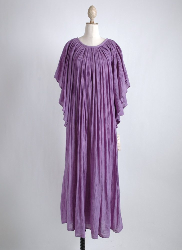 1970s purple gauze dress old stock