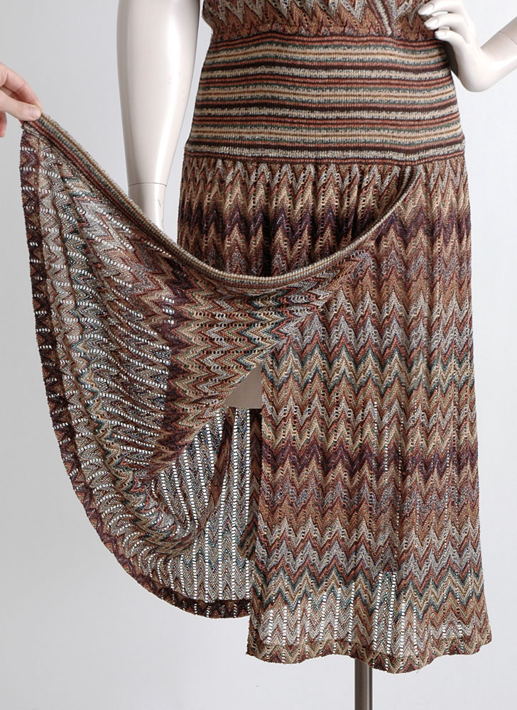 1970s Missoni chevron knit dress, large