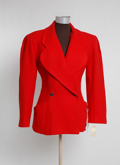 1980s red KARL LAGERFELD jacket w/tags
