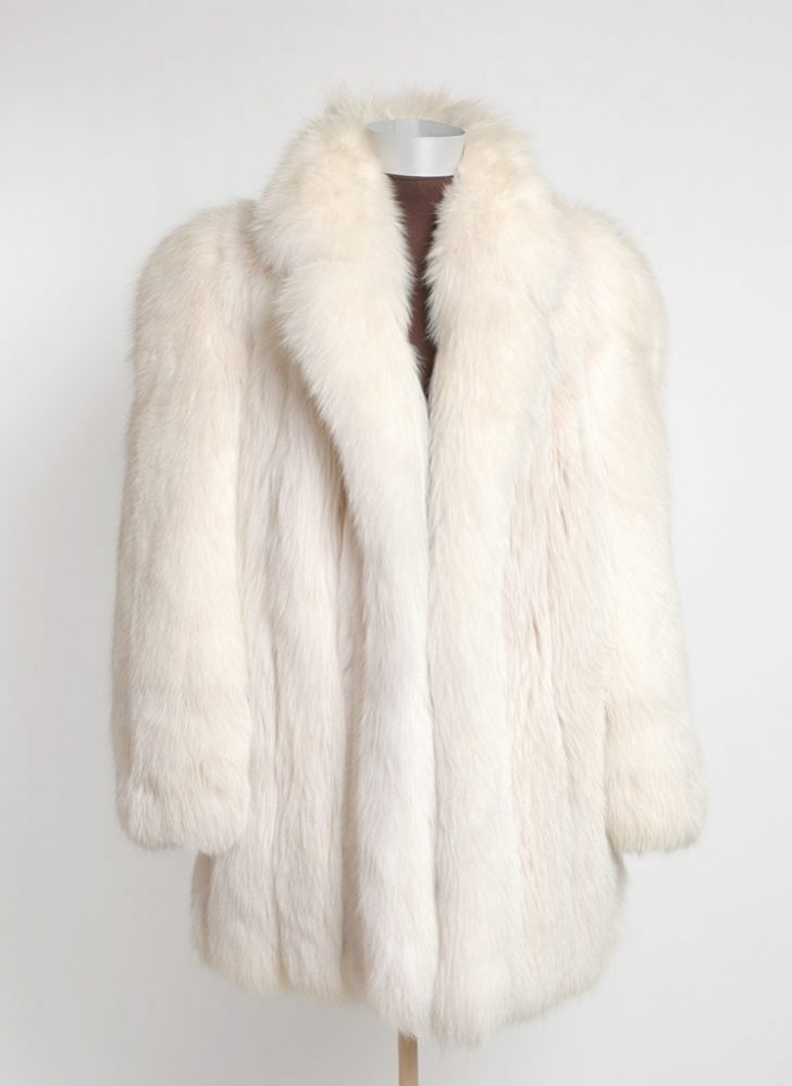 1980s gorgeous white fox coat (repair)