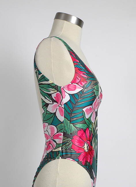 1980s French Cacharel floral swimsuit never worn/tags