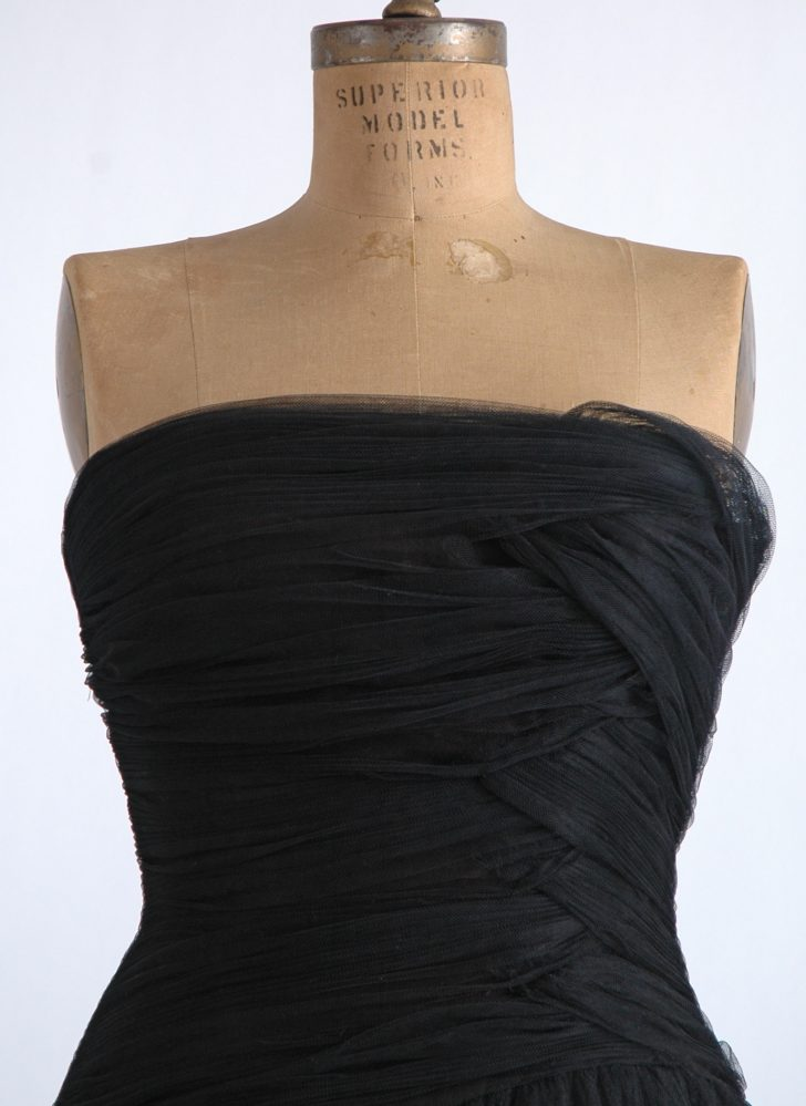 1950s Helena Barbieri ruched dress (repair project)
